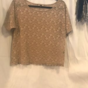 Women's VS sheer brown Lacey top